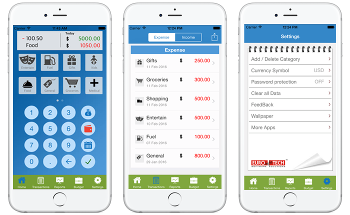 income expense tracker spending manager